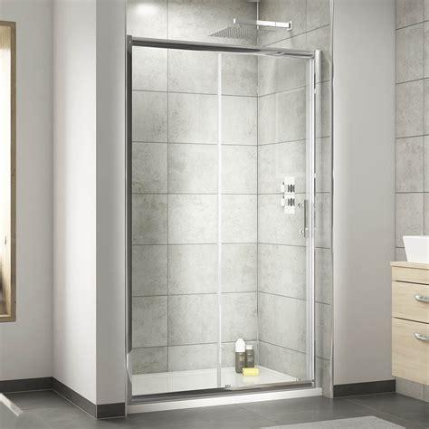 nuie pacific sliding shower door  size options