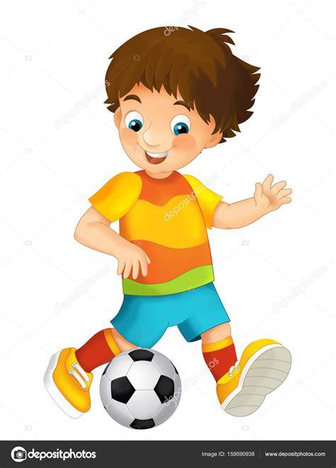 imagenes infantiles de niños jugando a color ni 241 o de dibujos animados jugando al f 250 tbol foto de stock