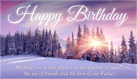 Winter Birthday Cards Free Happy Birthday Winter Scene Ecard Email Free