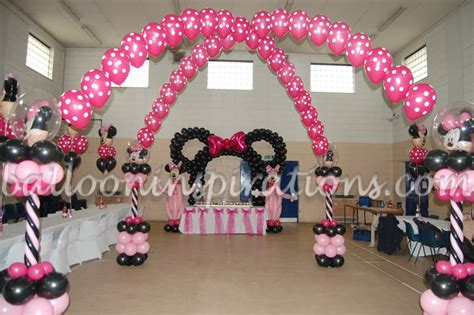 minnie mouse theme decorations kid s birthday minnie mouse themed decoration