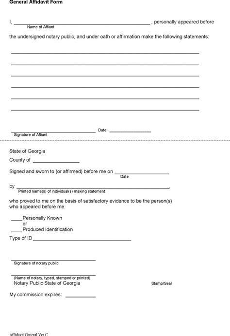 general affidavit download free premium templates