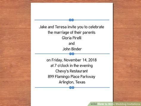 what should be written on wedding invitations 3 easy ways to write wedding invitations with pictures