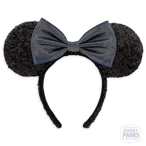 Disney Minnie Ears Headband disney parks minnie sequined metallic bow ear headband