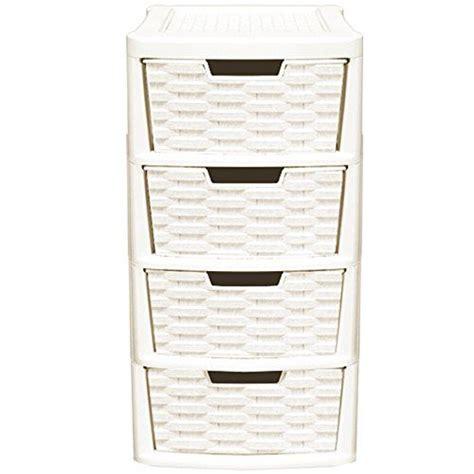 3 drawer wicker storage tower unit rattan style 2pcs plastic 3 drawer 4 drawer tower