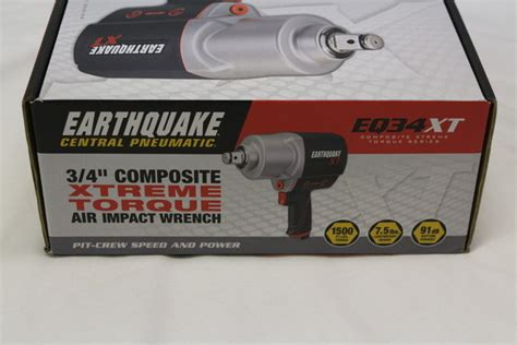 earthquake xt 3 8 central pneumatic earthquake eq34xt 3 4 quot xtreme torque air
