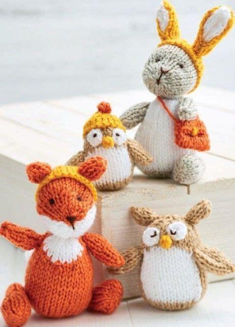 knitting patterns toys free downloads 4 woodland toys let s knit free knitting patterns diy