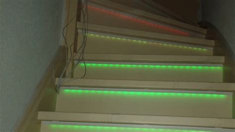 Led Light Strips For Stairs Accent Your Stairs With Cheap Led Strips And An Arduino