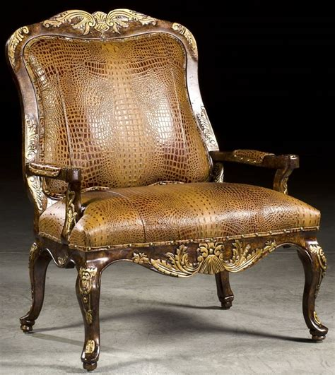 Alligator Chair by Gator Leather Accent Chair
