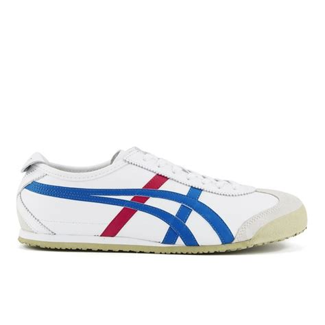 Po Original Onitsuka Tiger Mexico 66 Baby White Blue C6b5y 0145 asics onitsuka tiger s mexico 66 trainers white blue mens footwear thehut