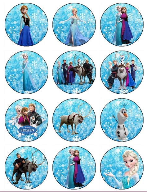 printable edible images for cakes frozen birthday edible frozen cupcake toppers edible image