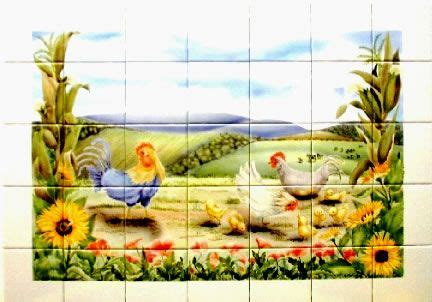 Kitchen Backsplash How To hand painted country scenes tile images bing images farm