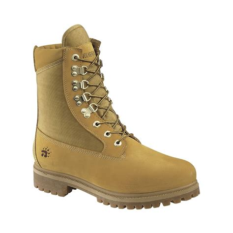mens suede work boots wolverine s 8 quot gold waterproof insulated suede soft