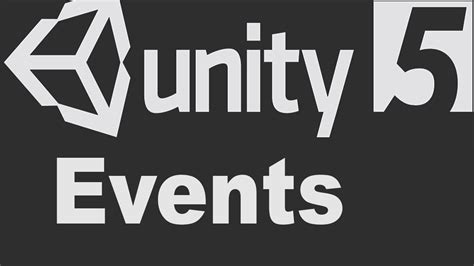 unity tutorial event unity ui events explained youtube