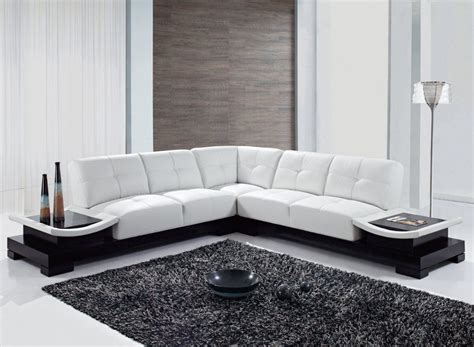 large u and l leather sectionals corner modern design