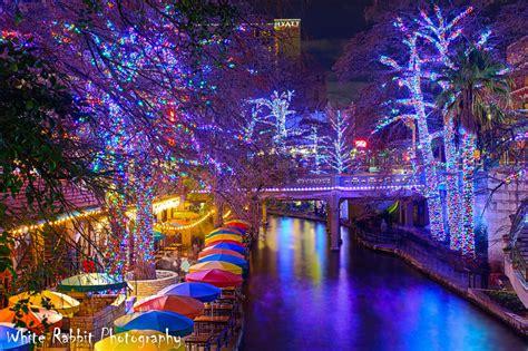 christmas lights on the riverwalk san antonio