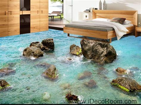 sea ocean rocks  floor decals  wallpaper wall mural