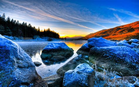 Awesome Ireland Scenery 1271 World Hd Desktop Wallpaper Rock In Water ~ Clipgoo
