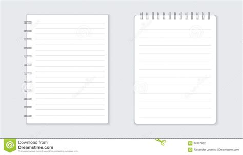 Realistic Template Notepad With Spiral Vector Illustration Cartoondealer Com 84366784 Spiral Notebook Template For Microsoft Word