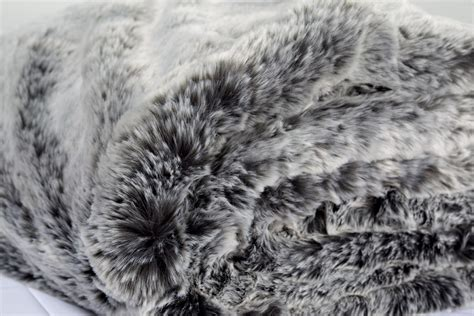 Best Faux Fur Blanket by Grey Alaskan Fox Faux Fur Throw Tielle Luxury