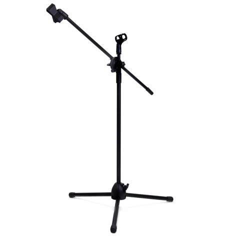 Stand Mic Panjang Krezt Nb 756 tripod holder mikrofon 2 klip nb 07 black jakartanotebook