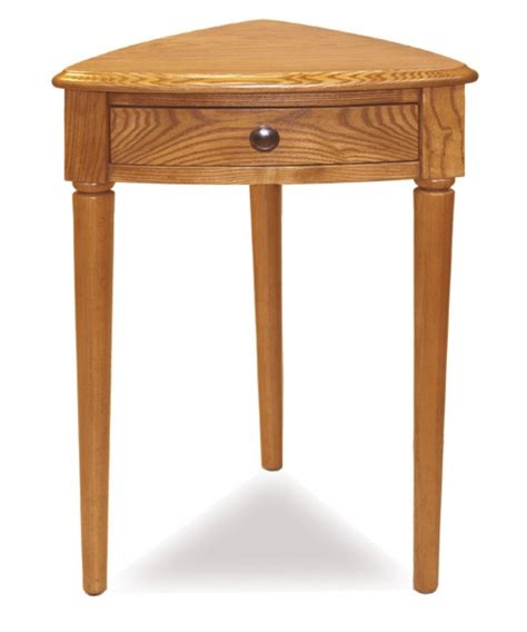 leick corner accent table shaker corner accent table in oak at hayneedle