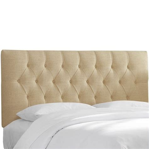 beige tufted headboard skyline furniture tufted panel headboard in beige 54xtlnnsnd
