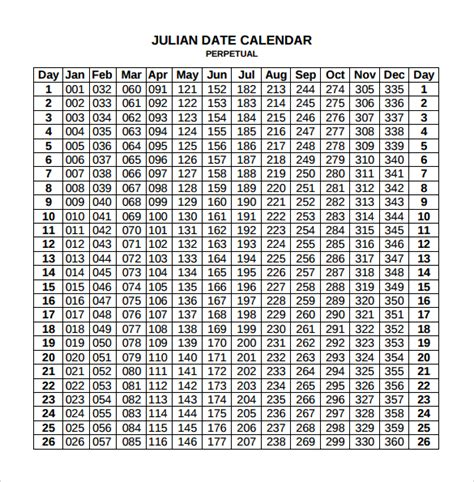 printable calendar 2018 with julian dates julian calendar printable 2018 printable calendar