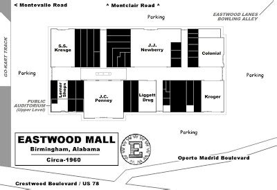 layout of eastwood mall mall hall of fame november 2006