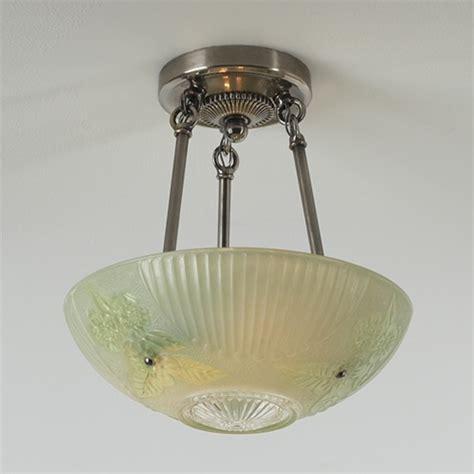 green rosette vintage ceiling light