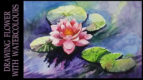 watercolor lotus tutorial watercolor painting tutorial of lotus flower an easy step