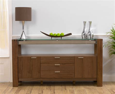 Glass Sideboards rochelle walnut glass sideboard oak furniture solutions