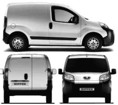 peugeot bipper van car blueprints peugeot bipper blueprints vector