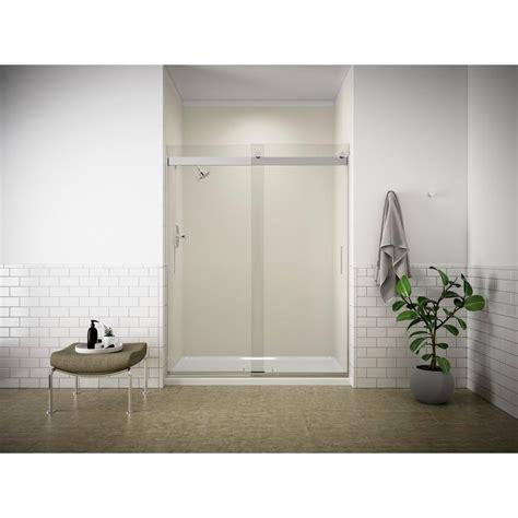 kohler levity shower door kohler levity 60 1 4 shower door with handle k 706009 l sh