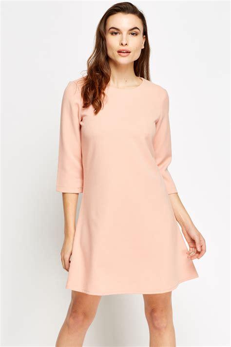 Sleeve A Line Dress 3 4 sleeve a line dress just 163 5