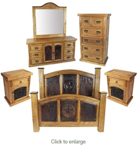 texas star bedroom furniture rustic pine texas lone star 5 piece bedroom set