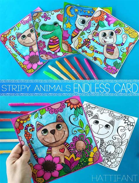 Ve Stripy hattifant s stripy animal endless card hattifant