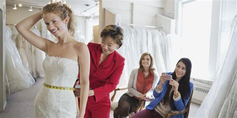 dress shopping when it comes to wedding dress shopping the guest list is up to you