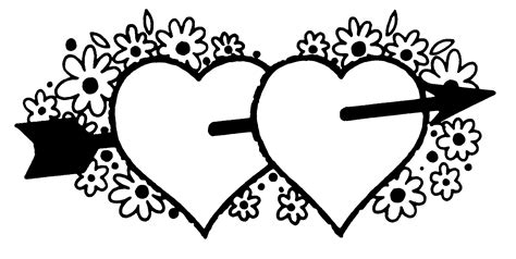 valentines day borders black and white www imgkid