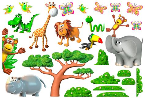 Wandtattoo Afrika Tiere Kinderzimmer kinderzimmer wandtattoo tiere der afrikanischen dschungel 2