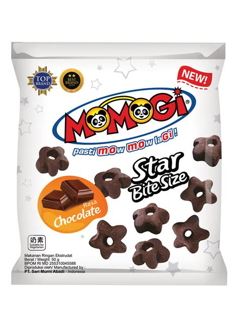 momogi snack star chocolate pck  klikindomaret