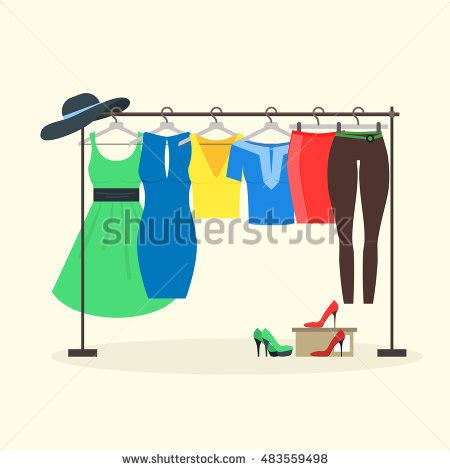 Clothing Rack Clipart by Clothing Rack Store Clip Cliparts