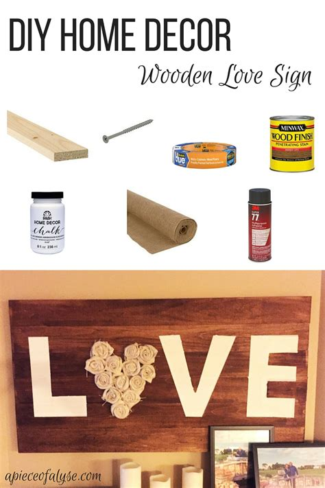 love home decor sign diy love sign a piece of alyse