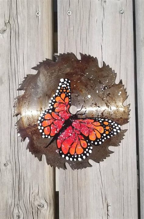 monarch butterfly wall art garden decor upcycled gift
