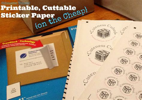 How To Make Stickers With Sticker Paper - silhouette white sticker paper alternative on the cheap