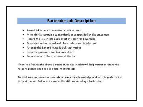 bartender resume sample resume genius