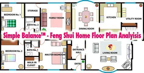 simple balance feng shui home floor plan analysis