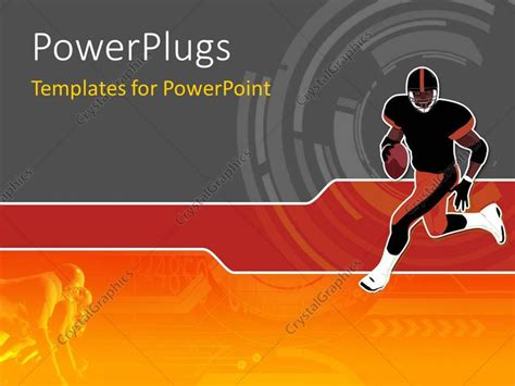 power point themes rugby powerpoint template a rugby player with the ball and