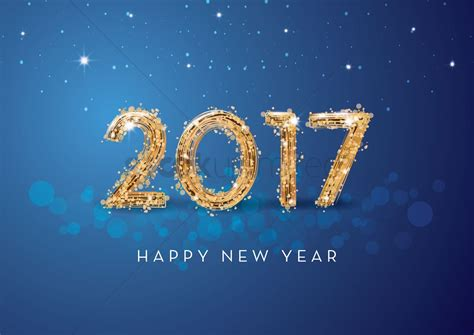 2017 happy new year greeting vector image 1940324