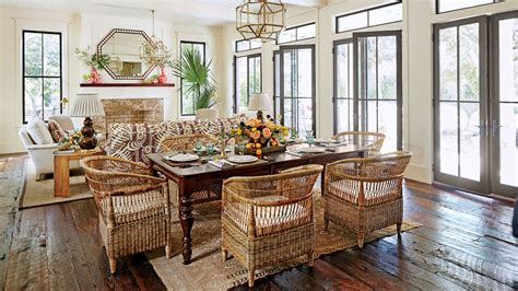 southern living dining rooms swiss cottage style house craftsman style cottage house plans our dream beach house step inside the 2017 southern