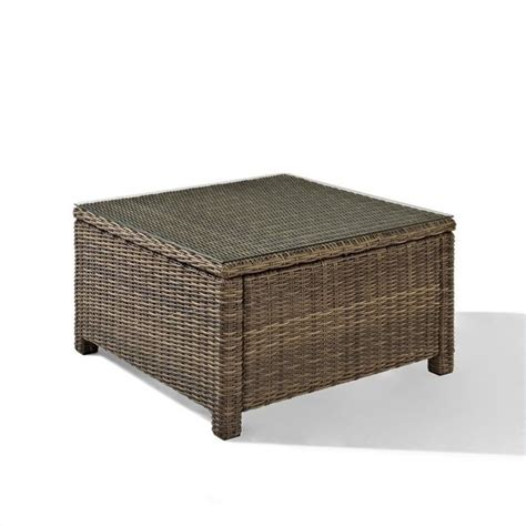 Best Coffee Tables For Sectionals by Bradenton Outdoor Wicker Sectional Glass Top Coffee Table Co7207 Wb